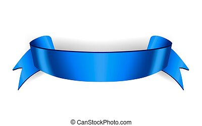 Ribbon banner Satin blank - Blue ribbon banner. Satin blank....