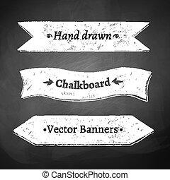Ribbon banners.