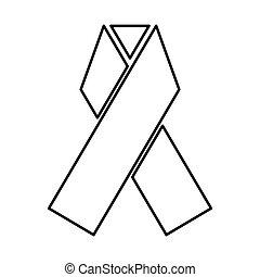 Ribbon black color icon .
