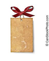 ribbon bow card note chirstmas celebration greeting - close ...
