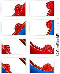 ribbon bow gift or credit card