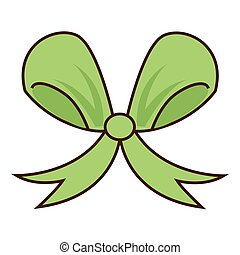 ribbon bow green icon