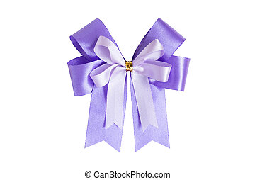 Ribbon bow isolated on white background with clipping path