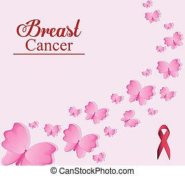 ribbon breast cancer design - ribbon butterfly breart cancer...