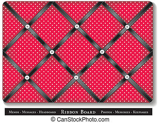 Ribbon Bulletin Board - Tuck favorite photos and keepsakes...