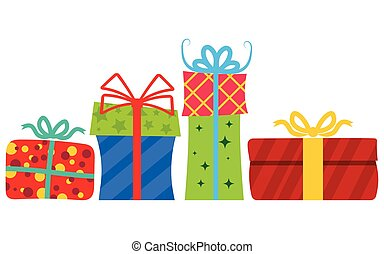 ribbon., caixas, presente