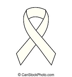 ribbon campaign on white background