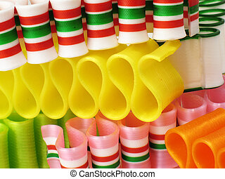 Ribbon Candy CloseUp - Rows of colorful ribbon candy.