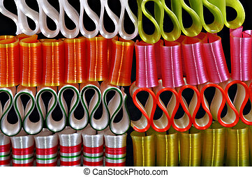 Ribbon candy - Bright colorful ribbon candy