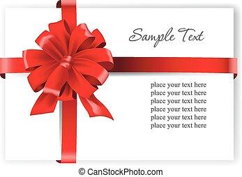 ribbon., carte rouge, salutation