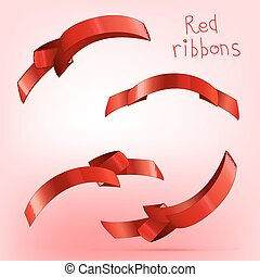 Ribbon curled red