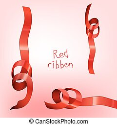 Ribbon curledr red