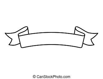 ribbon decoration line style icon