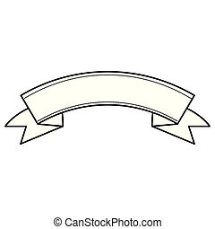 ribbon decoration on white background