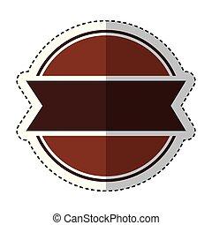 ribbon emblem isolated icon