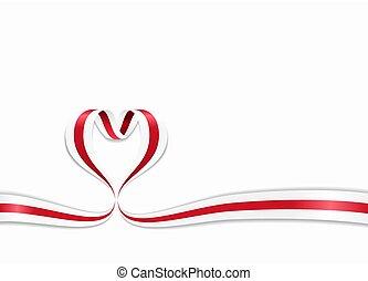 ribbon., en forma de corazón, illustration., bandera, vector, belorussian