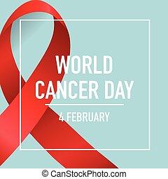 ribbon., fevereiro, câncer, ilustração, 4., vetorial,...