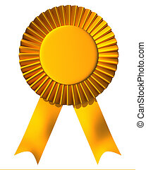 Ribbon first place award - Yellow ribbon first place award...