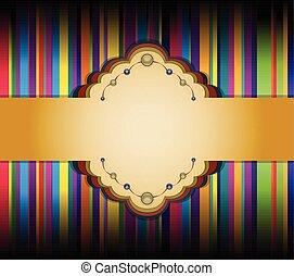 ribbon., fond