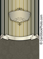 ribbon., frame, decoratief, achtergrond