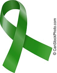 Ribbon - Green ribbon. Scoliosis, Mental health and other...