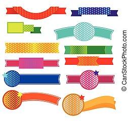 Ribbon halftone vector
