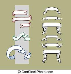 Ribbon Hand Drawn 1