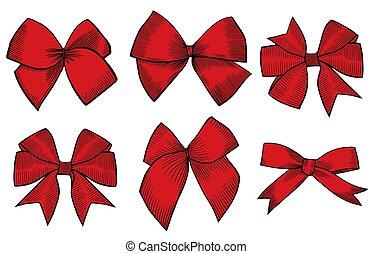 Ribbon Hand drawn set