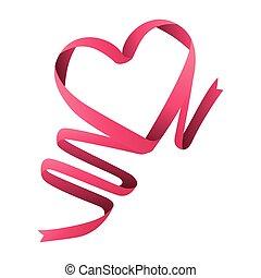 ribbon heart love