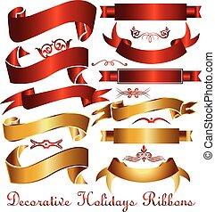 Ribbon holidays decoration
