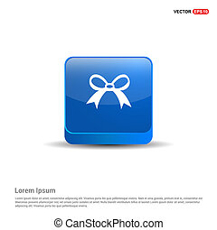ribbon icon - 3d Blue Button