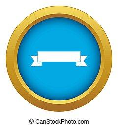 Ribbon icon blue isolated