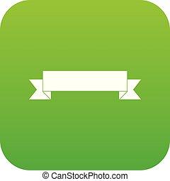 Ribbon icon digital green