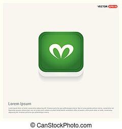 ribbon icon Green Web Button
