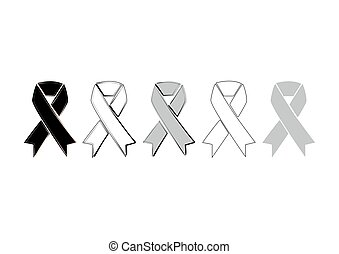 ribbon icon on white background in vector illustration