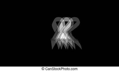 Ribbon icon Vintage Twitched Bad Signal Animation.