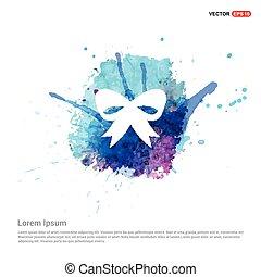ribbon icon - Watercolor Background