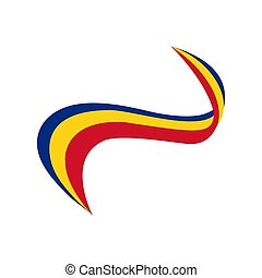 Ribbon in the color of the flag of Romania