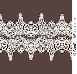 ribbon., laccio, simmetria, border., pattern., vettore, orizzontale, bianco