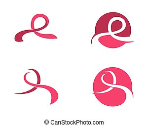 Ribbon logo template