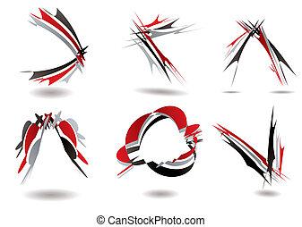 ribbon logo twist - Collection of six ribbon design that...