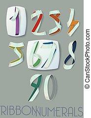 Ribbon Numerals