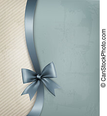 ribbon., papier, oud, achtergrond, vakantie, cadeau, vector, boog