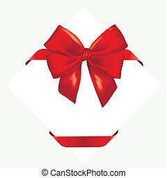 ribbon., piros, tehetség vonó