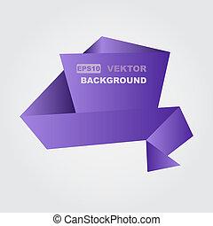 Ribbon -  Purple ribbon. Abstract vector background.