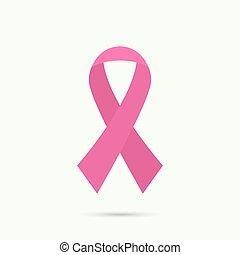 ribbon., rák, mell tudatosság