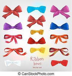 Ribbon red bow
