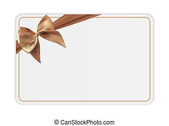 ribbon., regalo, illustrazione affari, arco, sagoma, vuoto, tuo, scheda