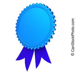 Ribbon rosette award blank reward medal blue