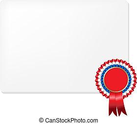 Ribbon Rosette Badge